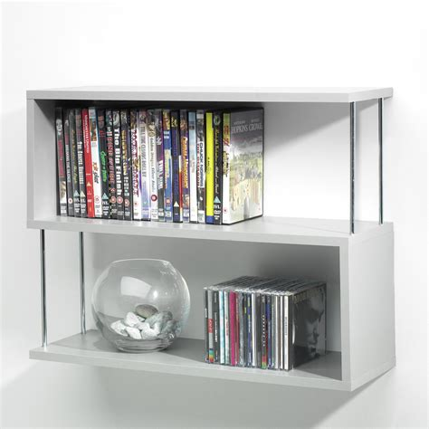 chrome bookshelves new silver wood chrome 3 panel bookshelf shelves wall hanging unit ebay