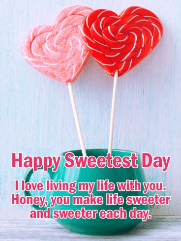 sweet honey happy sweetest day card birthday greeting cards  davia