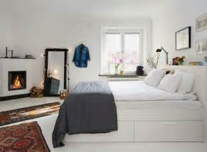 white themed modern bedroom small