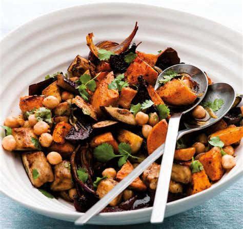 hot chick pea salad easy food recipes and cooking warm aubergine roots and