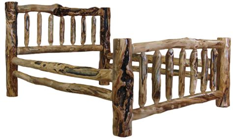 Log King Bed Frame Williams Log Cabin Furniture Colorado Aspen Log Beds Headboards And Frames