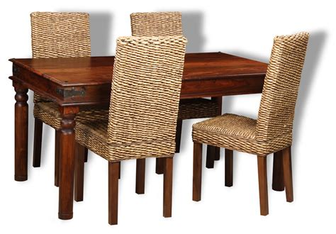 jali 160cm dining table 4 rattan dining chairs trade