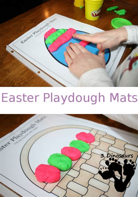 free printable spring playdough mats free easter playdough mats printable 3 dinosaurs