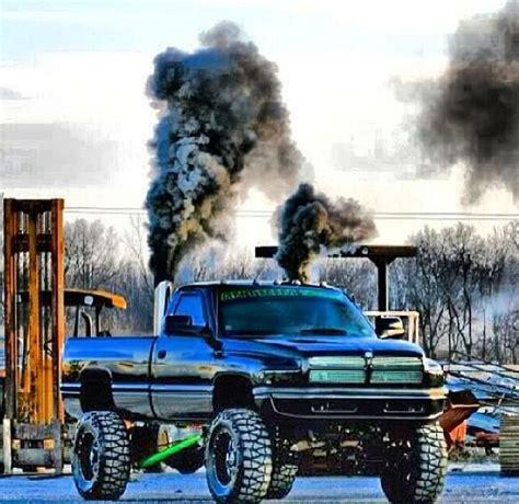 cummins truck rollin coal black second gen dodge cummins diesel roll coal