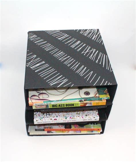 desk organizer box paper box desk organizer favecrafts
