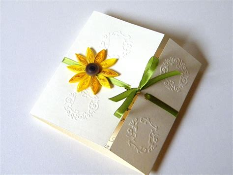 sunflower wedding invites sunflower wedding invitation sunflower card by zannapaper