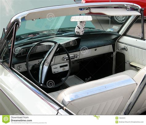 vintage car upholstery classic car interior with dice stock image image 1004341