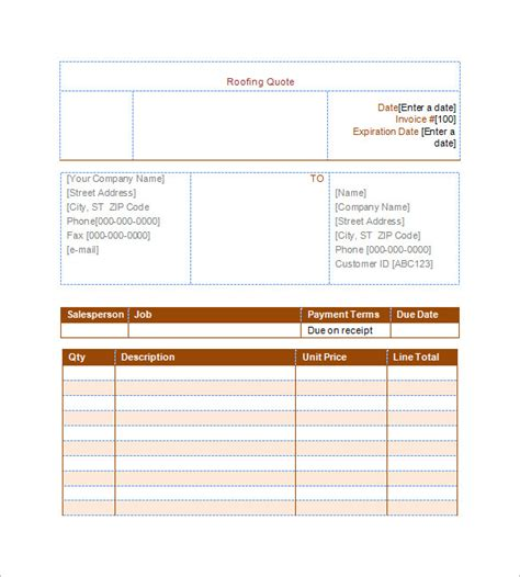 11 Roofing Estimate Templates Pdf Doc Free Premium Templates Roofing Estimate Template