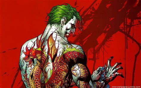 green joker wallpaper dc comics the joker green hair red background tattoos