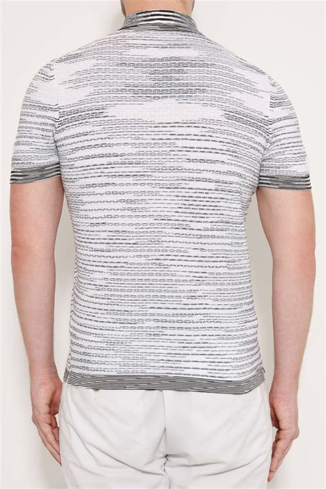 Polo Shirtkaos Polo Ripcurl Exclusive Lyst Missoni Exclusive Patterned Cotton Polo Shirt In