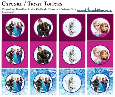printable disney frozen cupcake toppers frozen free printable toppers oh my fiesta in english