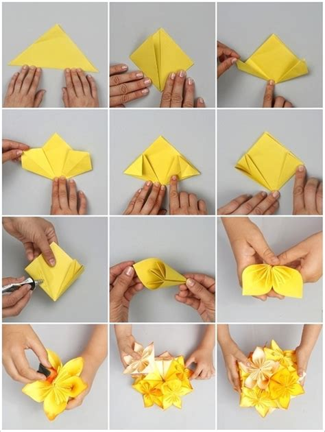 How To Make Origami Paper Flowers - wonderful diy origami kusudama flower