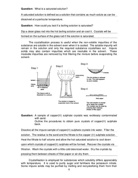 Chemistry Separation Techniques Worksheet by Separation Techniques Revision Pdf
