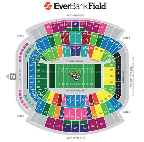 everbank field map everbank field jacksonville fl seating chart view