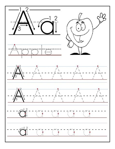 printable alphabet tracing worksheets for pre k tracing the letter a free printable activity shelter