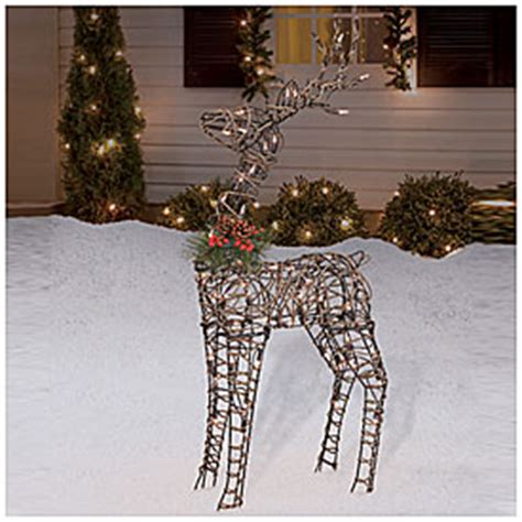 lighted grapevine reindeer outdoor christmas view 36 quot pre lit grapevine reindeer deals at big lots