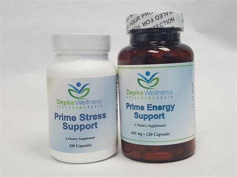 Depke Detox by Prime Stress And Energy Support Combo Depke Wellness