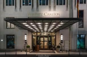 Hotel Entrance Entrance Of The Ritz Carlton Hotel Potsdamer Platz
