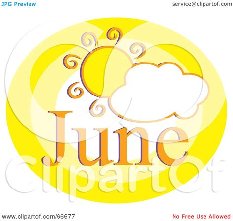 June Wedding Clipart by Royalty Free Rf Clipart Illustration Of A Month Of June