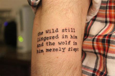 Jack London Tattoo Quote | white fang jack london quotes quotesgram
