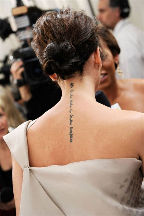 victoria beckham s tattoo on her back 101 pretty back of neck tattoos