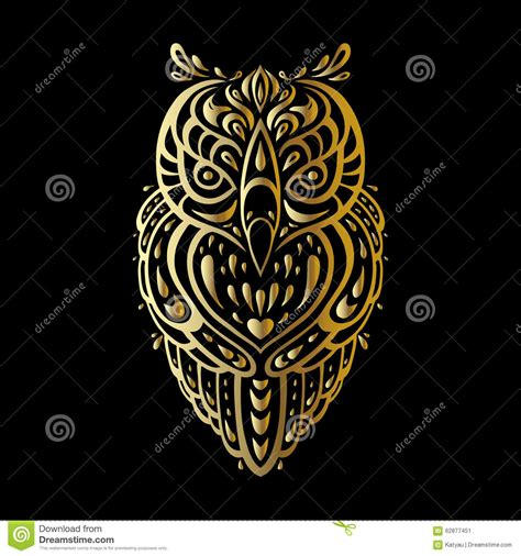 tribal pattern owl background owl tribal pattern stock vector image 62877451