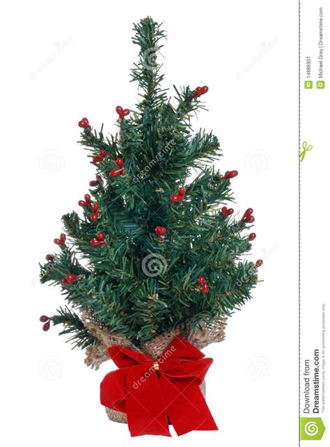 fake mini christmas tree stock image image of decorative