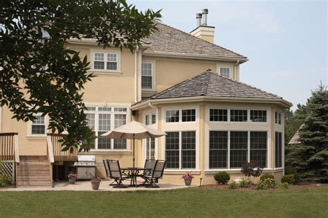 Kitchen Designer Chicago Sunroom Addition Traditional Exterior Chicago By
