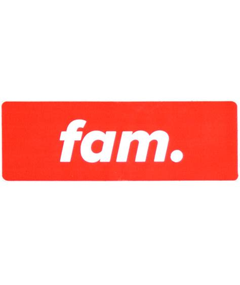 Fam Rewards Gift Card - stickie bandits red fam sticker