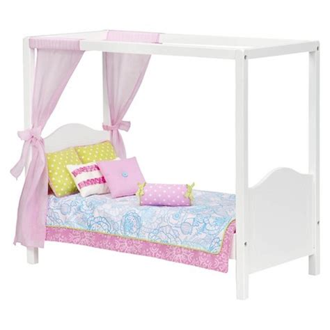 our generation doll bed our generation 174 my sweet canopy bed pink white target