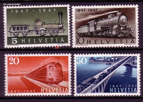 Brief Schweiz Briefmarke Briefmarken Schweiz Michel Nr 484 487 Schweizer Eisenbahn 100 Jahre 1947 Postfrisch G 252 Nstig