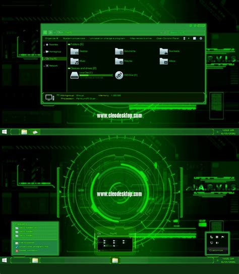 download themes for windows 8 1 mobile jarvis light green theme windows 8 1 by cleodesktop on