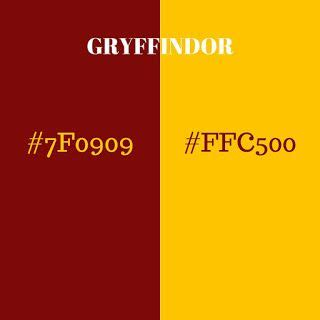 gryffindor colors gryffindor hex code harry potter room