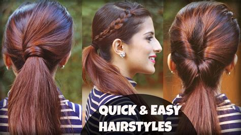 everyday hairstyles for indian hair 1 min everyday effortless hairstyles with ponytails for