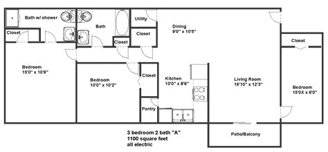 1300 sq ft apartment floor plan stratford x elec sq ft apartment floor plan modern plans