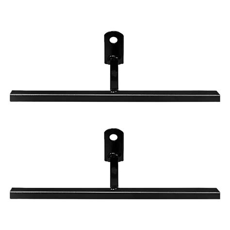 unique home designs 3 in black t bracket with screws 2