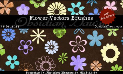 flower pattern gimp flower vectors photoshop gimp brushes obsidian dawn