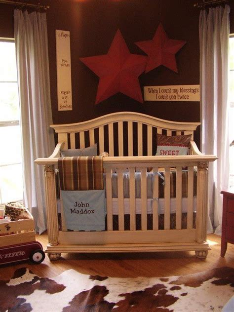 Cowhide Rug Nursery Rustic Western Baby Room There Is The Cow Hide Rug