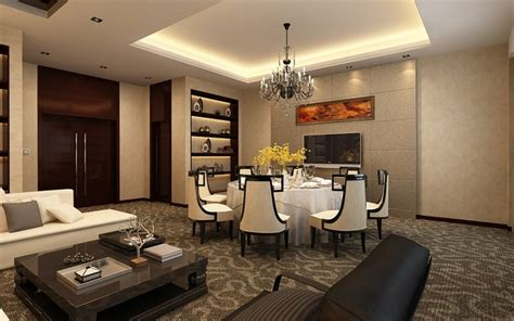 3d pictures 4bedrooms office sitting room and dinning room 3d house plans living dining room space 3d model max