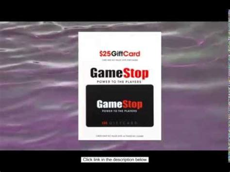 buy gamestop gift card online youtube - Gamestop Gift Card Not Working