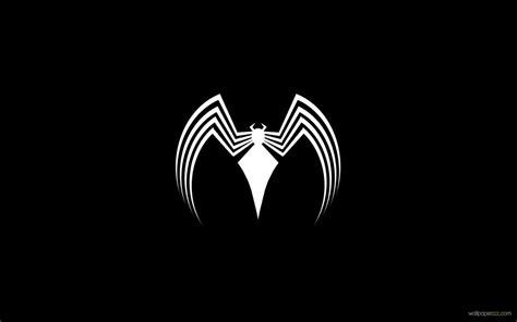 cartoon wallpaper black and white venom logo wallpaper
