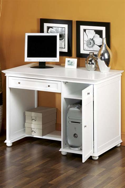 white home office furniture homeideasblog