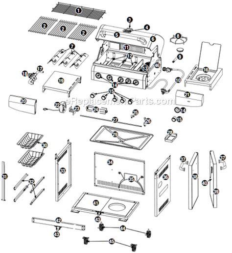 gas grill parts diagram uniflame gbc1273w parts list and diagram