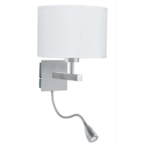 Bedroom Wall Lights Uk Hotel Style Bedroom Wall Light With Adjustable Led Arm In Satin Silver