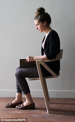 sit in the chair or sit on the chair would you sit on this chair to live longer two legged