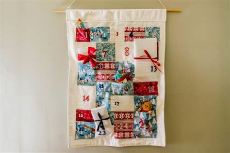 Patchwork Advent Calendar - how to make a fabric advent calendar diy