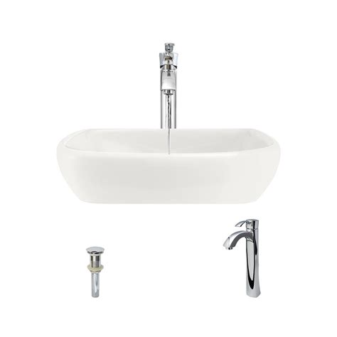 mr direct sinks and faucets mr direct porcelain vessel in bisque with 726 faucet