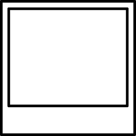 photo clipart black and white blank photograph clip black and