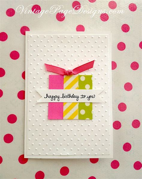 Handmade Cards Using Ribbon - simple handmade birthday card three pieces of washi