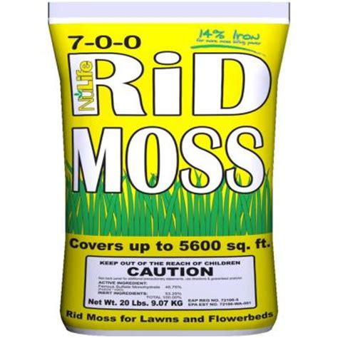 Teh Nulife nulife rid moss 20 lb ready to use moss granules wnl03027 the home depot